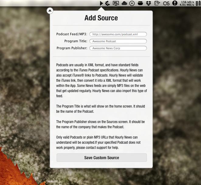 Custom Sources on Mac